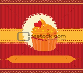 Capcake invitation card