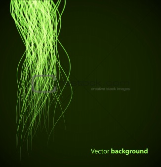 Green abstract wave background. Vector illustration eps10