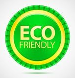 Eco friendly, green label, vector illustration eps10