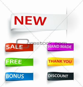 Set of tag sticker label. Vector illustration