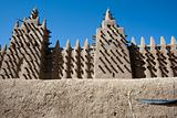 The Great Mosque of Djenné, Mali (Africa).