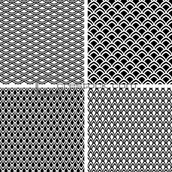 Fish scale seamless texture.