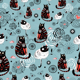 pattern of cats