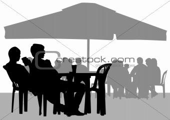 Cafe and umbrella