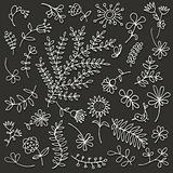 Floral ornament sketch, seamless background for your design