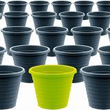 plastic garden pot