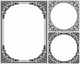 Vintage floral frames set. Decorative patterns. Vector illustration.