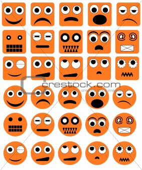 Vector emotion icons