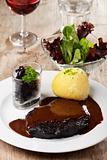 sauerbraten meat and potato dumpling 