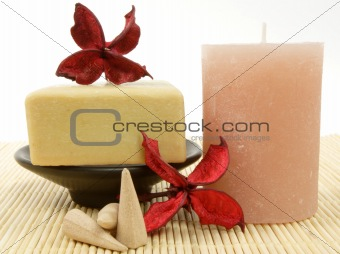 candle and soap