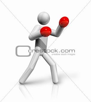 Boxing 3D symbol