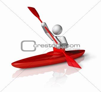 Canoe Slalom 3D symbol
