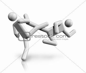 Taekwondo 3D symbol