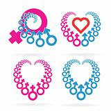 Male and Female Symbols Set