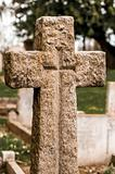 Graveyard stone cross
