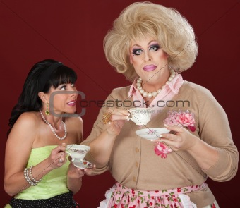 Opposite Personalities With Tea Cup