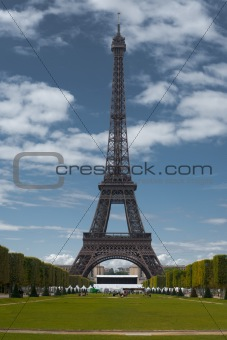 Stylized Eiffel Tower Sky