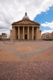 Paris Pantheon Front Overcast