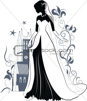 Ornate Bride  Silhouette