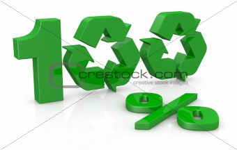 100 percent recycling concept