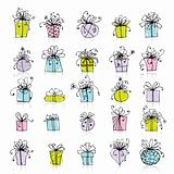 25 gift box icons for your design