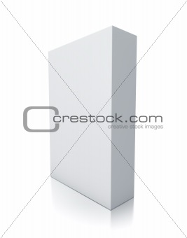 Rectangle white box.