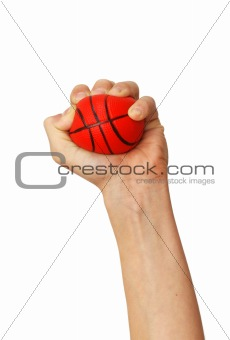 Hands squeezing ball toy