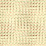 Retro flowers and green dots pattern