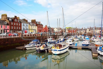 Arbroath Harbour with a view on High Street
