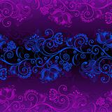 Seamless dark violet pattern