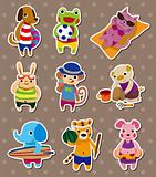 summer animal stickers