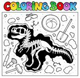 Coloring book with excavation site