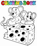 Coloring book with mouse 1