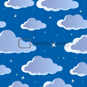 Night sky seamless background 1