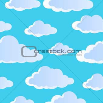 Seamless background with clouds 4