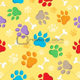 Seamless background with paws 1