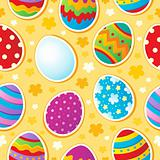 Seamless Easter topic background
