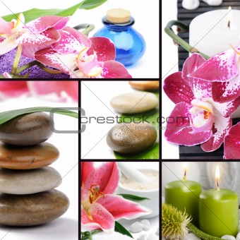 Spa concept. Collage