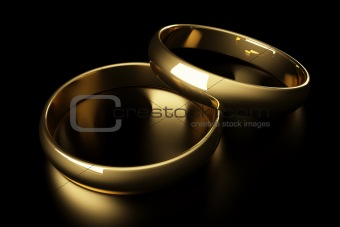 3d gold wedding ring
