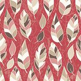 Abstract seamless pattern of colored leaves