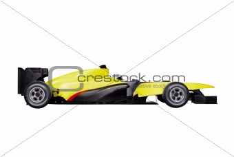 formula one car with path