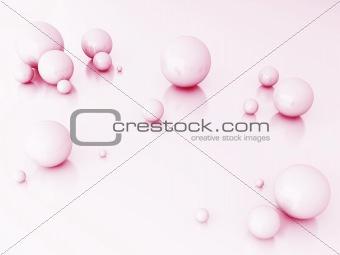 Abstract spheres of pink color