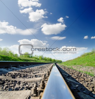 low angle view of railway