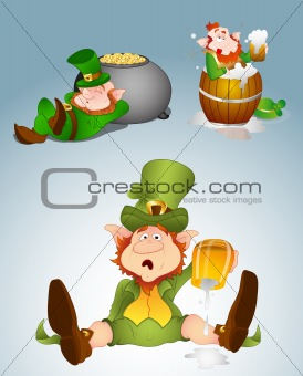 Leprechaun Vector Illustrations