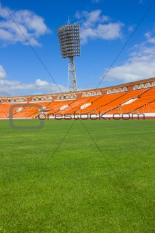 football field with lamp