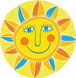 abstract smiling sun