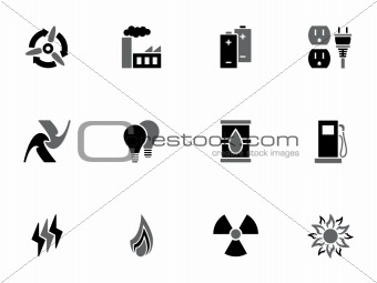 Energy icons set