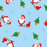 Christmas seamless pattern with Santa Claus
