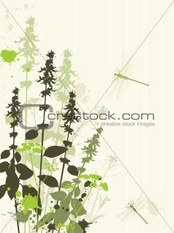 Green wildflowers