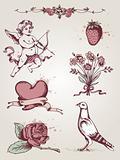 Valentine's vintage elements